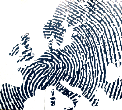 Europa als Fingerabdruck